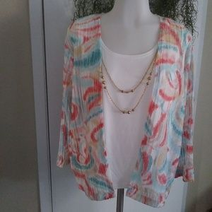 Tank Top and Blouse with Necklace by Alfred Dunner